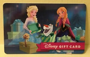 Disney Collectable Gift Card NV Mint Frozen Warm Hugs Collectible