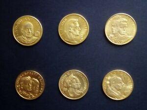 Lotto n.6 Medaglie Commemorative in ottone di Gregorio Sciltian Ed. Rizzoli (190