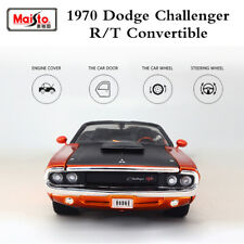 Maisto 1/24 Modern Muscle Alloy Car Model Dodge Challenger R/T 1970 Convertible