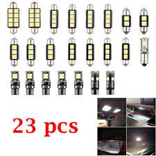 23PCS LED Chip White Car Inside Light Dome Trunk Mirror License Plate Lamp Bulbs