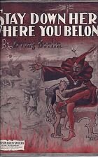 2 Pieces of Sheet Music by Irving Berlin, 1912, 1914, Demons, Trains, Railroads
