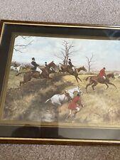 Framed Hunting Scene Print