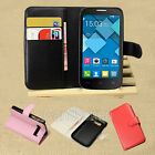 Stand Flip PU Leather Case Cover +LCD Film For Alcatel One Touch POP C7 C5 C3 C1