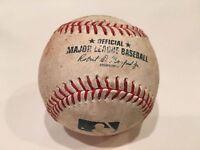 Actual Game Used Major League Baseball - MLB -