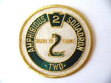 INSIGNE PATCH USN US NAVY USMC : AMPHIBIOUS SQUADRON TWO / MARINE USA