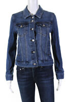 J Crew Womens Button Down Long Sleeve Collared Jean Jacket Blue Denim Size Small
