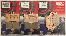 Yamaha YZF R6 (2005 to 2016) EBC Sintered FRONT and REAR Disc Brake Pads 3 Sets