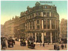 Holborn Viaduct London Vintage photochrome print ca. 1890