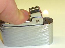 SILVER MATCH COMPOUND BUTANE POCKET LIGHTER - FEUERZEUG - 1953 - MADE IN FRANCE