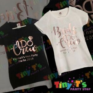"""Hen Party """"I Do Crew"""" T Shirts / Tote Bags"""