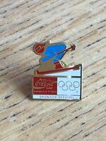 1992 Winter Olympics Coca-Cola Enamel Pin - Ski (pi1)