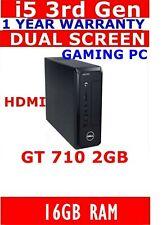DELL i5  3rd GEN GAMING COMPUTER PC 16GB RAM USB3 1TB SSD HDMI GT 710 2GB