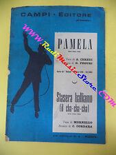 RARO SPARTITO SINGOLO Pamela I NOMADI Stasera balliamo 1962 CAMPI no cd lp