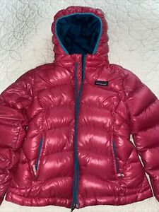 PATAGONIA GIRL PINK PUFFY JACKET SIZE S 7-8