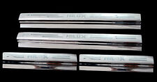4 DOORS SILL STAINLESS SCUFF PLATE FOR TOYOTA HILUX VIGO MK6 SR5 05-13 07 09 FIT