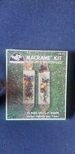 Vintage Hazel Kaboodles kit HT107 Macrame butterflies nip