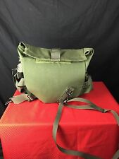 US Military Gas Mask Carrier Bag Pouch Olive Drab Green EUC
