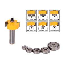 1/2Inch Shank Adjustable Teflon Rabbet Router Bit Woodwork Trimmer Cutter Set