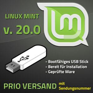 Linux Mint 20 USB Stick. Bootfähig, Aktuelle Version PRIO Versand mit Sendungsnr