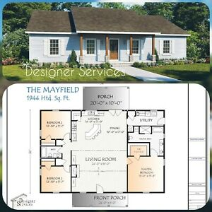 The Mayfield Custom House Home Building Plans 1944 square feet