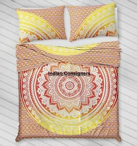 Cotton Comforter Indian Modern Queen Duvet Cover With 2 Pillow Cover Indian