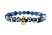 Power Armband Gold Sparta mit crack Achat Modeschmuck Perlen Bracelet Handkette