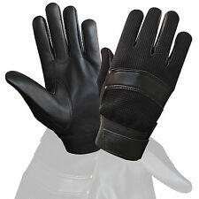 TOP QUALITY REAL LEATHER POLICE GLOVES TACTICAL SECURITY SEARCH DUTY PETORL 7002