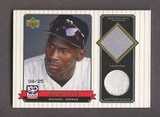 2001 Upper Deck MJ Salute Michael Jordan GU Jersey Glove Patch 4/25