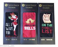 Sockshop Mens Gift Boxed Novelty Funny Christmas Socks Size 7-11 Uk, 40-45 Eur