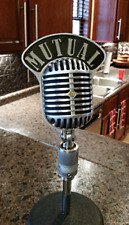 Custom Call Letters Flag Plate SHURE 55 FATBOY UNIDYNE Vintage Microphone 556