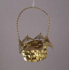 Vintage christmas tin candy basket - ca. 1920  (# 9265)