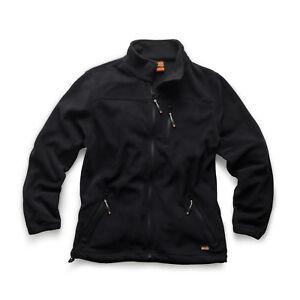 Scruffs WORKER Fleece BLACK (All Sizes) Men's Water Resistant Work Jacket