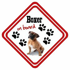 Personalised Boxer On Board Car Window Sign Have It Your Way