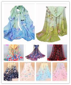 Women's Summer Chiffon Scarf Beach Print Scarf Sunscreen Shawl 31 Colors  63Inch