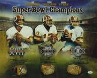 Washington Redskins Autographed Super Bowl Quarterbacks 16x20 Photo JSA 12825