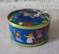 Ancienne Boite Métal tôle Tirelire fermeture avec clef Chine Inde 1960s