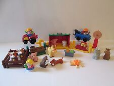 25 pc Fisher-Price Little People farm set animals people fence tractor tow truck