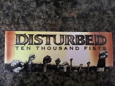 Disturbed sticker promo for Ten Thousand Fists