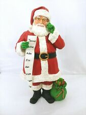 Midwest-Cbk Santa with Sack List Names Tall 14inch Resin Glitter Holiday Figure
