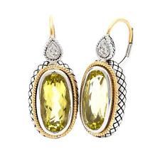 Andrea Candela 18K Gold Sterling Lemon Quartz Cable Dangle Earrings ACE363/07-LQ