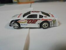 LL Fast Trackers White '02 Snap-on Stock Car Slot Car w/Silicone tires Rare car