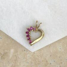 579bc038571e Collares y colgantes de joyería de oro amarillo de rubí de 14 ...