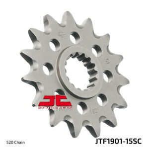 Front Steel Countershaft Sprocket Self Cleaning - 15 Tooth 520 JTF1901.15SC
