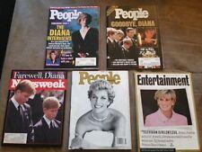 Lot of 5 Magazines Featuring Princess Diana