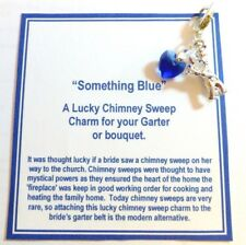 Something Blue Blue Traditional Heart Chimney Sweep Lucky Bridal Charm Gift Card