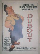 """""""EXPOSITION DUBOUT 1986/87 : CESAR"""" Affiche entoilée (Marcel PAGNOL / RAIMU)"""