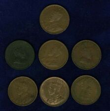 CANADA LARGE CENT COINS: 1903,1906,1911,1913,1916,1917,