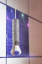 Crystal Light/Cieco Tirare incastonato con cristalli Swarovski e Vetro Finial