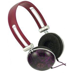 Moshi Graffiti PURPLE DOME HEADPHONES - NEW earphones ear/head phones music/mp3