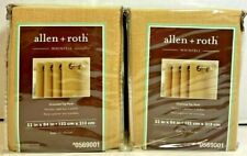 "LOT of 2 allen + roth Whinfell 52"" x 84"" Grommet Top Light Filtering Gold Panels"